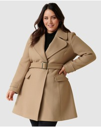 Forever New Curve - Miley Curve Belted Wrap Coat
