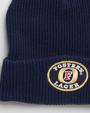 Rolla's - Fosters Lager Beanie - Headwear (Washed Blue) Fosters Lager Beanie