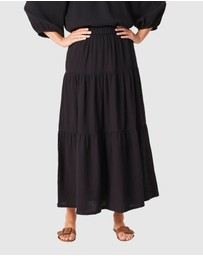 French Connection - Cotton Crinkle Tiered Skirt