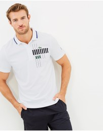 Novak Djokovic Chest Print Sport Polo