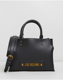 LOVE MOSCHINO - Logo Plaque Handbag