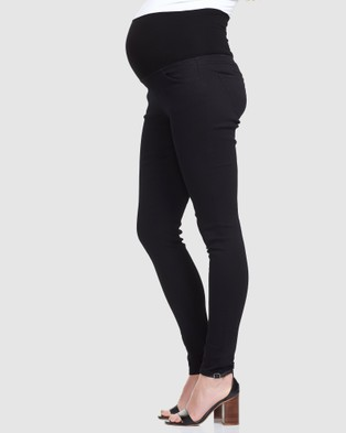 Soon Maternity Overbelly Skinny Jeans - Jeans (Black)