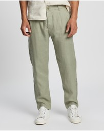 AERE - Pleated Linen Pull On Pants