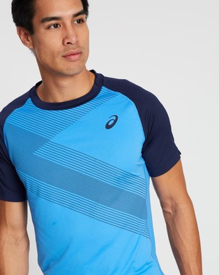 ASICS Club Gpx Tee   Men's - T-Shirts & Singlets (Blue Coast)