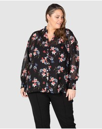 Love Your Wardrobe - Lilly Shirred Boho Blouse