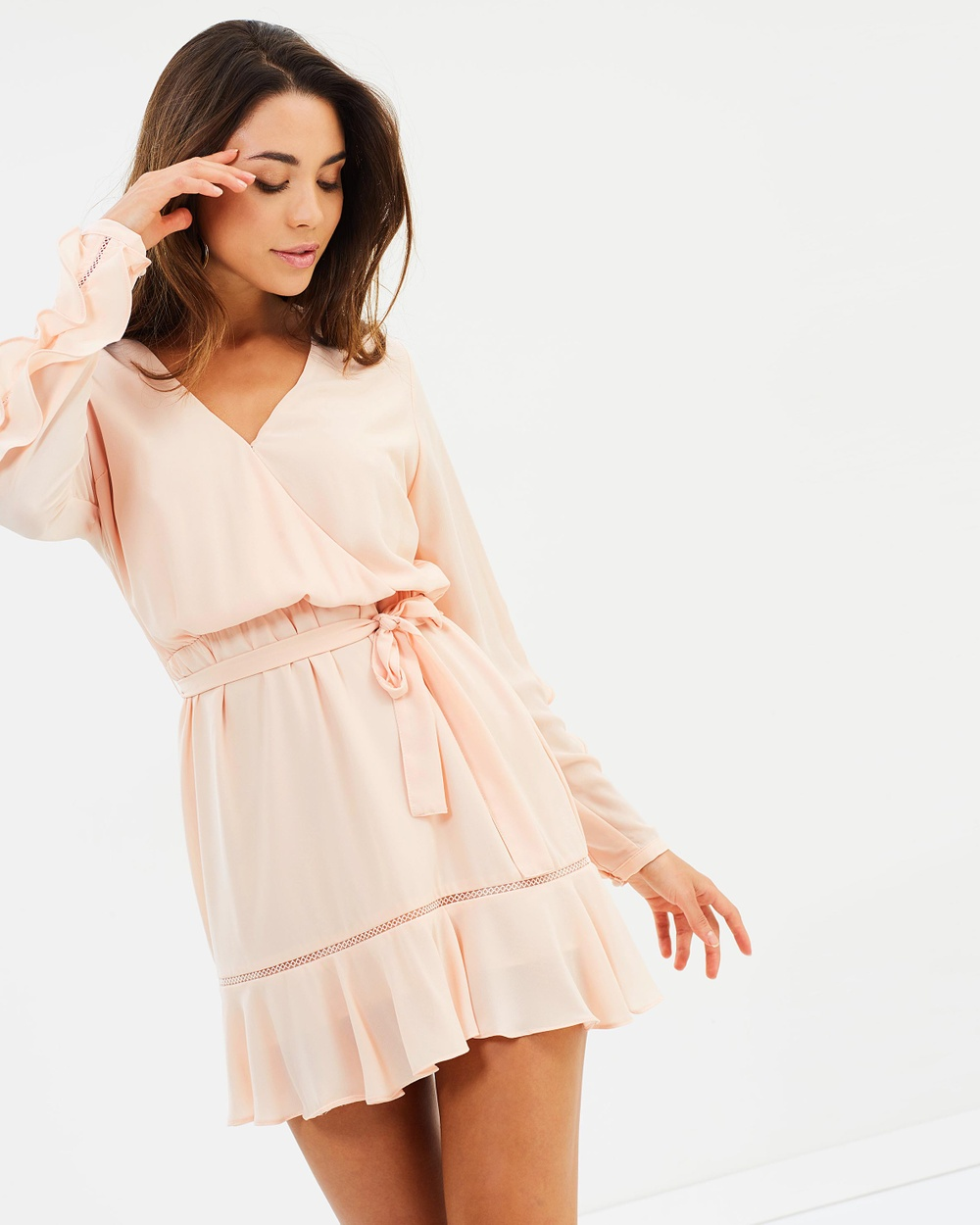 Fresh Soul Ruffle Sleeve Dress Dresses Blush Ruffle Sleeve Dress