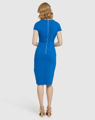 Oxford Juliette Eyelet Detail Ponti Dress - Dresses (Blue)