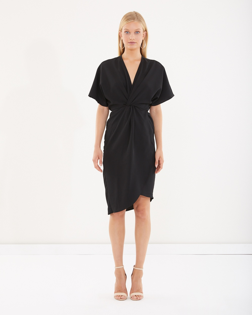 Tussah Oregon Knot Front Dress Dresses Black Oregon Knot Front Dress