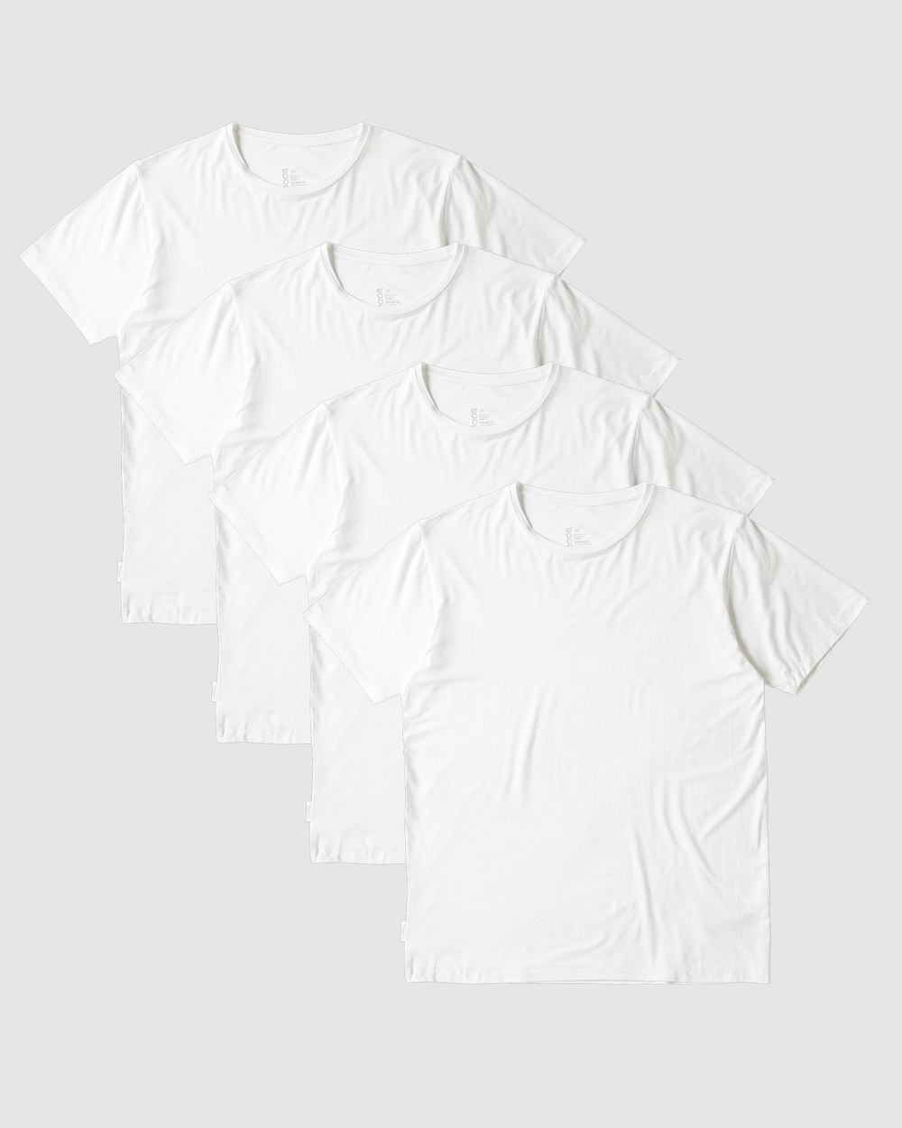 Boody Organic Bamboo Eco Wear - 4 Pack Crew Neck T Shirt - T-Shirts & Singlets (White) 4 Pack Crew Neck T-Shirt