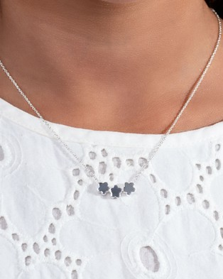 My Little Silver Three Floating Flowers Necklace - Jewellery (Sterling Silver)
