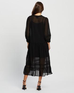 Moss??e Stella Sheer Dress - Dresses (Black)