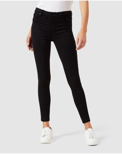 French Connection Mid Rise Skinny Jean Black