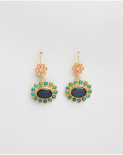 Bianc Olivia Earrings Sterling Silver And Brass Gold Plated