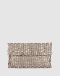 Betts - Kiko Metallic Diamante Clutch Bag