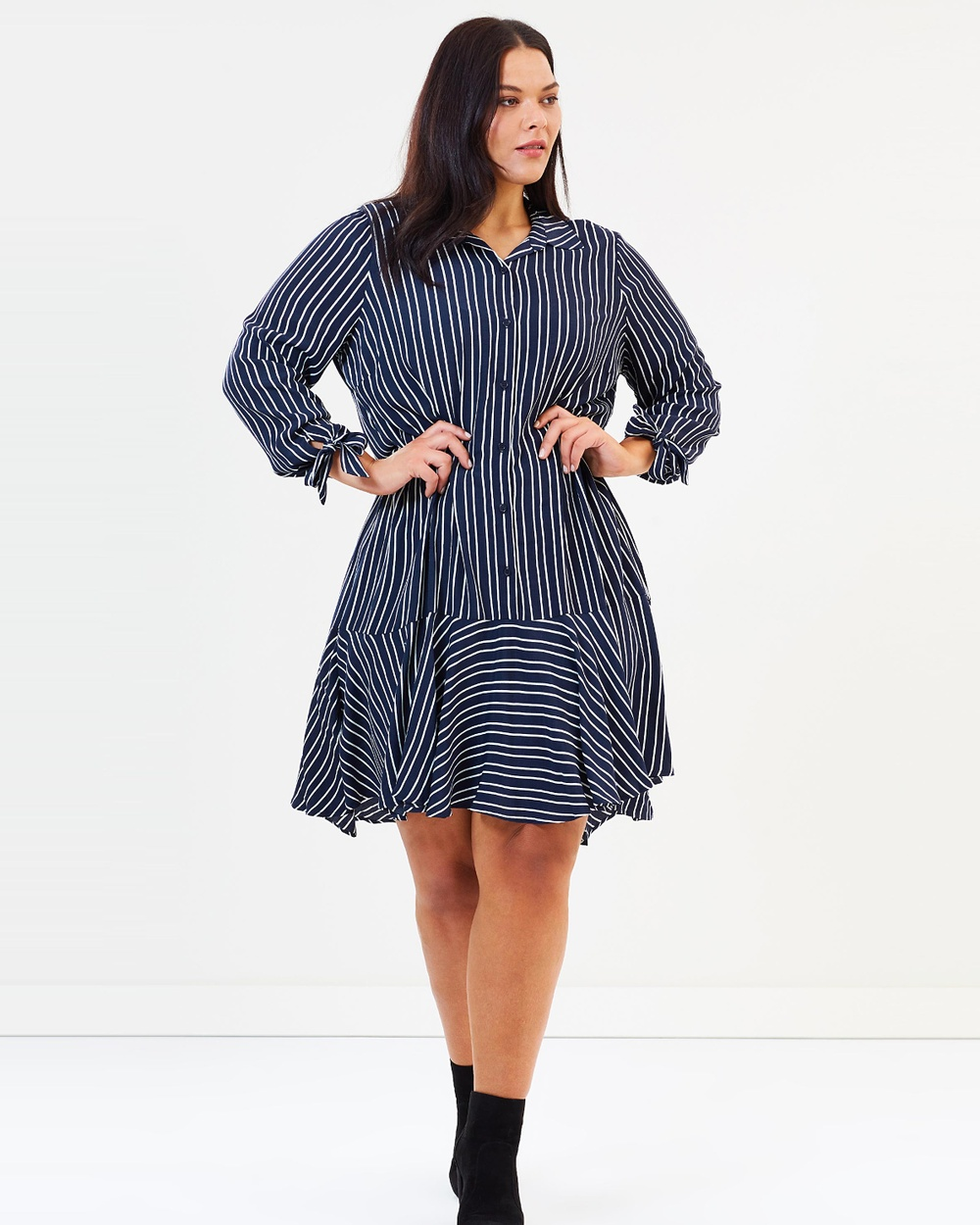 Estelle Hampton Dress Printed Dresses Milk & Navy Hampton Dress