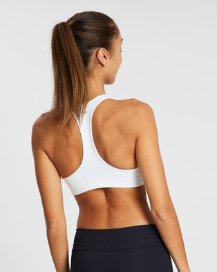 AVE Activewoman Classic Racer Back Sports Bra - Crop Tops (White)