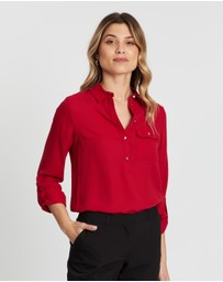 Dorothy Perkins - Roll Sleeve Blouse