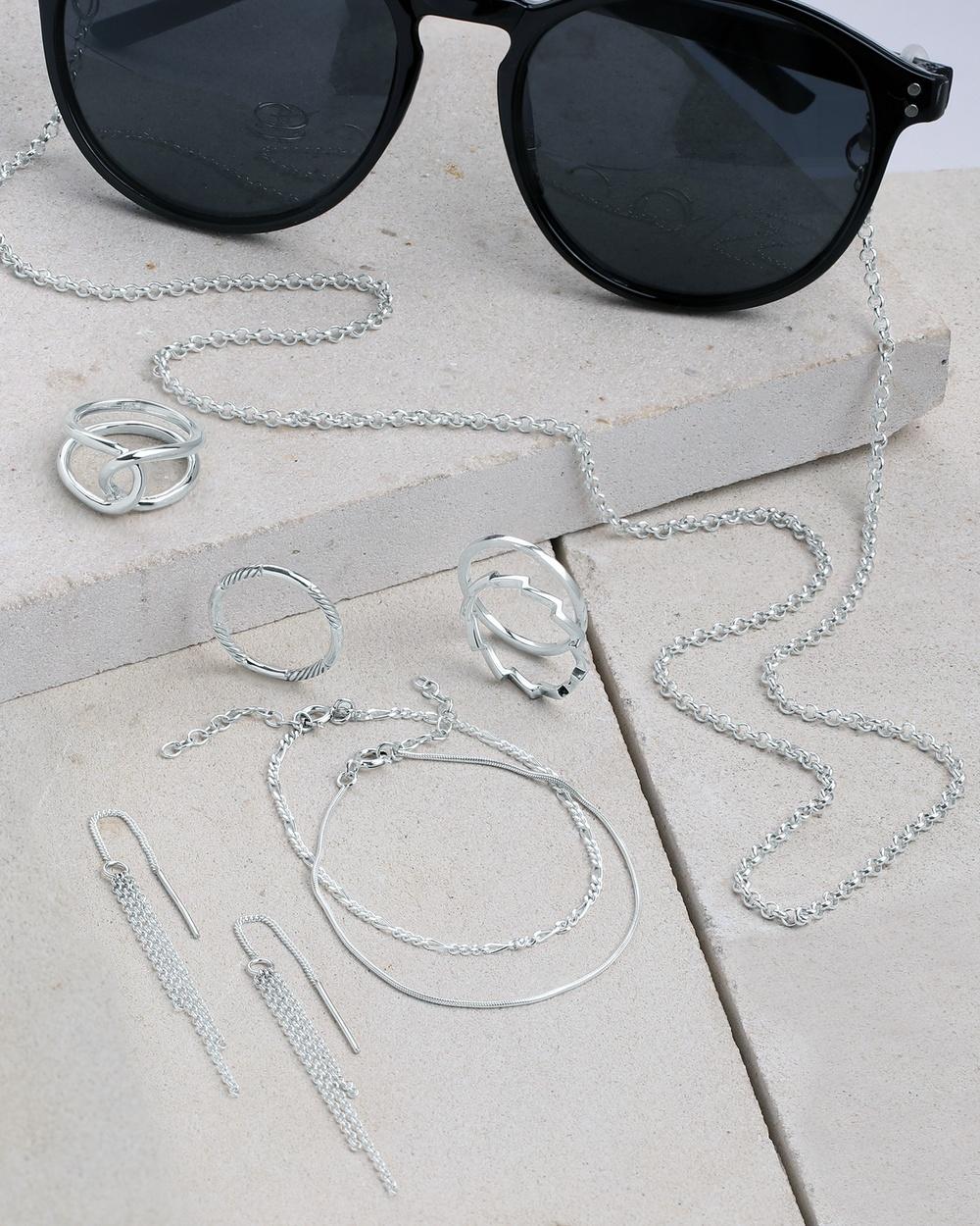 Elli Jewelry Ring Organic Elegant in 925 Sterling Silver Jewellery Silver