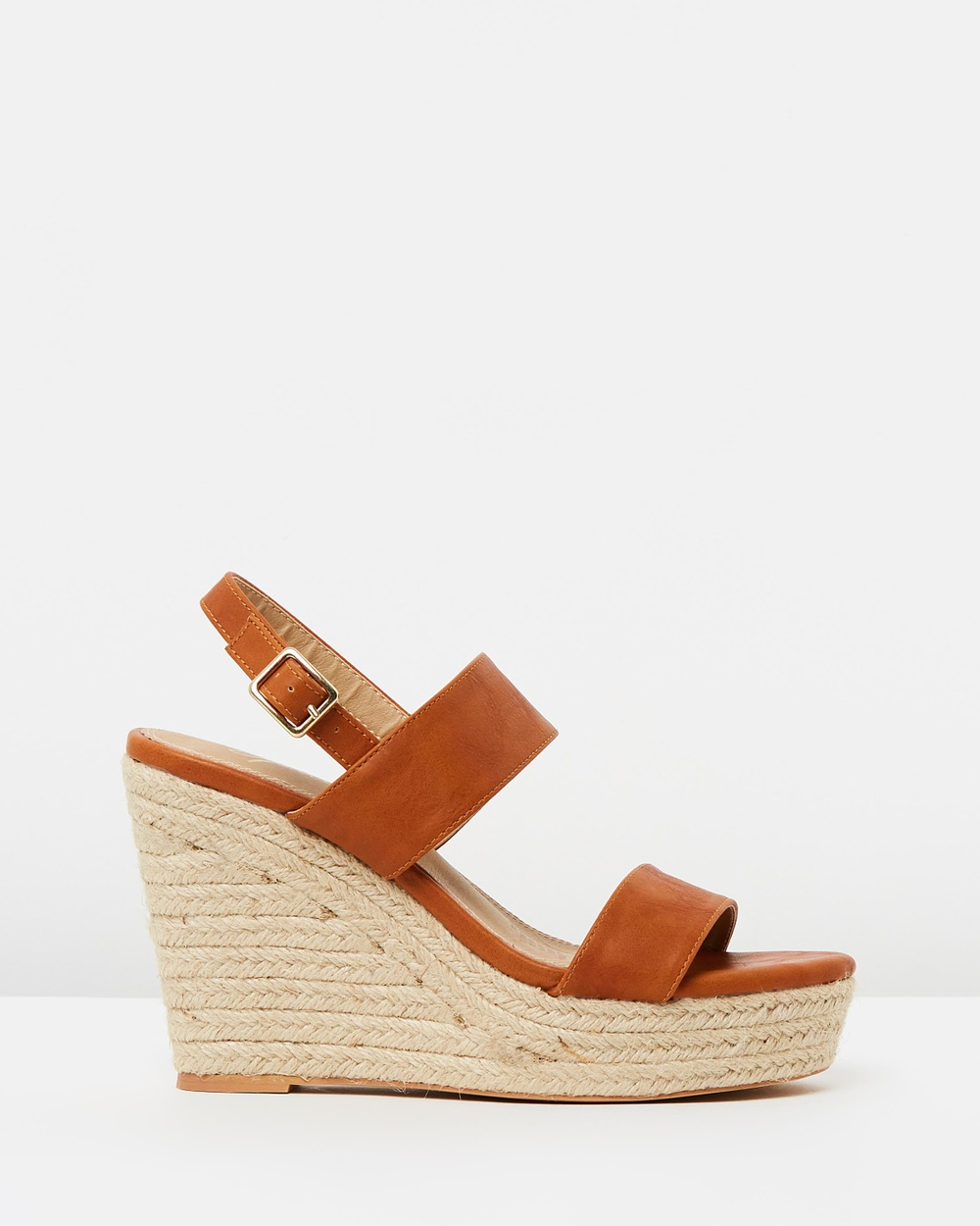 SPURR ICONIC EXCLUSIVE Zina Wedges Wedges Tan Smooth ICONIC EXCLUSIVE Zina Wedges