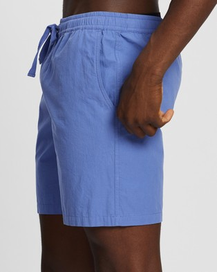 AERE - Organic Cotton Poplin Swim Shorts Swimwear (Cornflower Blue)