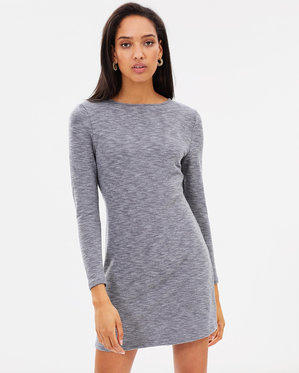 Atmos & Here ICONIC EXCLUSIVE Alexa Jersey Shift Dress Dresses Grey Marle ICONIC EXCLUSIVE Alexa Jersey Shift Dress