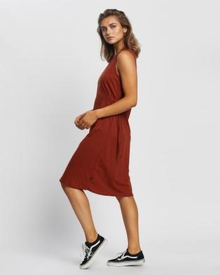 Silent Theory Lily Midi Dress - Dresses (Rust)