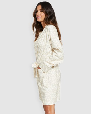Project REM Leopard Print Robe - Sleepwear (Leopard Print)