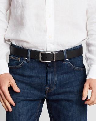 Tommy Hilfiger Loop Reversible 3.5cm Belt - Belts (Black & Brown)