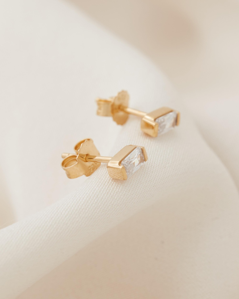 Medley Stunner Studs Jewellery 18ct Fine Yellow Gold Plated