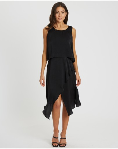 Tussah Gisele Midi Dress Black