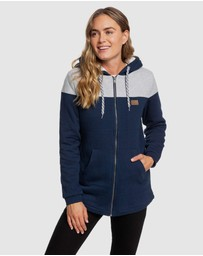 Roxy - Womens Break Of Dawn Sherpa Lined Zipped Hoodie