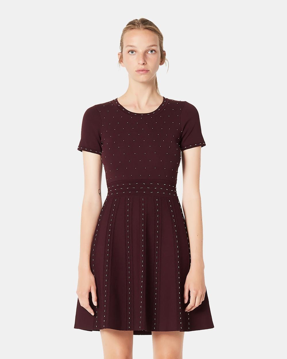Sandro Red Montaigne Dress
