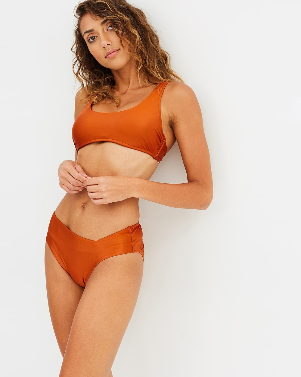 Bondi Born Butterfly Effect High Waist Cut Out Bikini Bottoms Bikini Bottoms Orange Butterfly Effect High Waist Cut-Out Bikini Bottoms