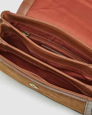 Oxford Harlow Leather And Suede Bag - Handbags (Brown)