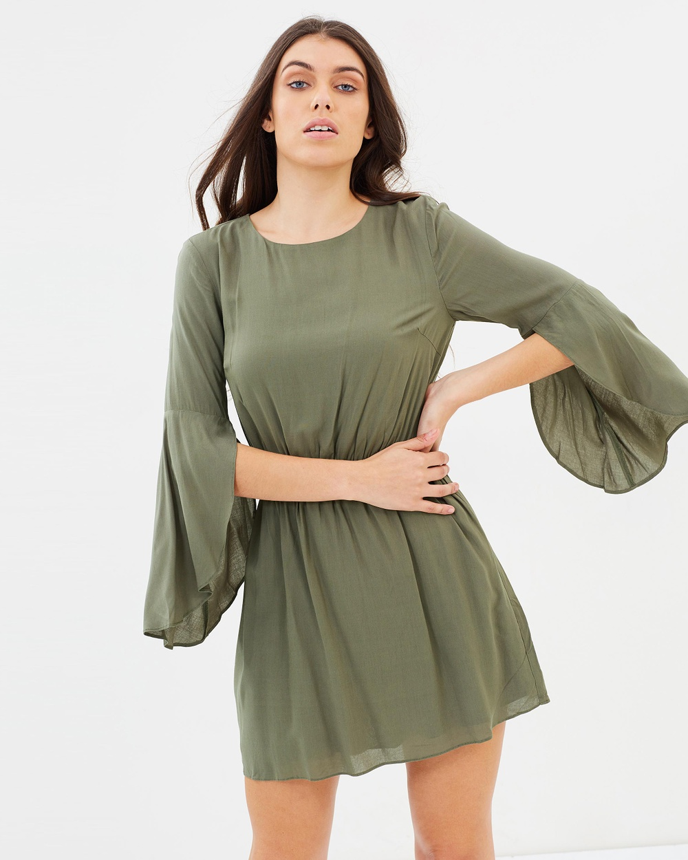 Photo of Atmos & Here Khaki ICONIC EXCLUSIVE - Idina Fit And Flare Dress - beautiful dress from Atmos & Here online