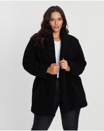 Atmos&Here Curvy - ICONIC EXCLUSIVE - Teddy Longline Coat