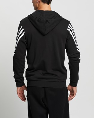 adidas Performance 3 Stripes Tape Full Zip Hoodie - Hoodies (Black)
