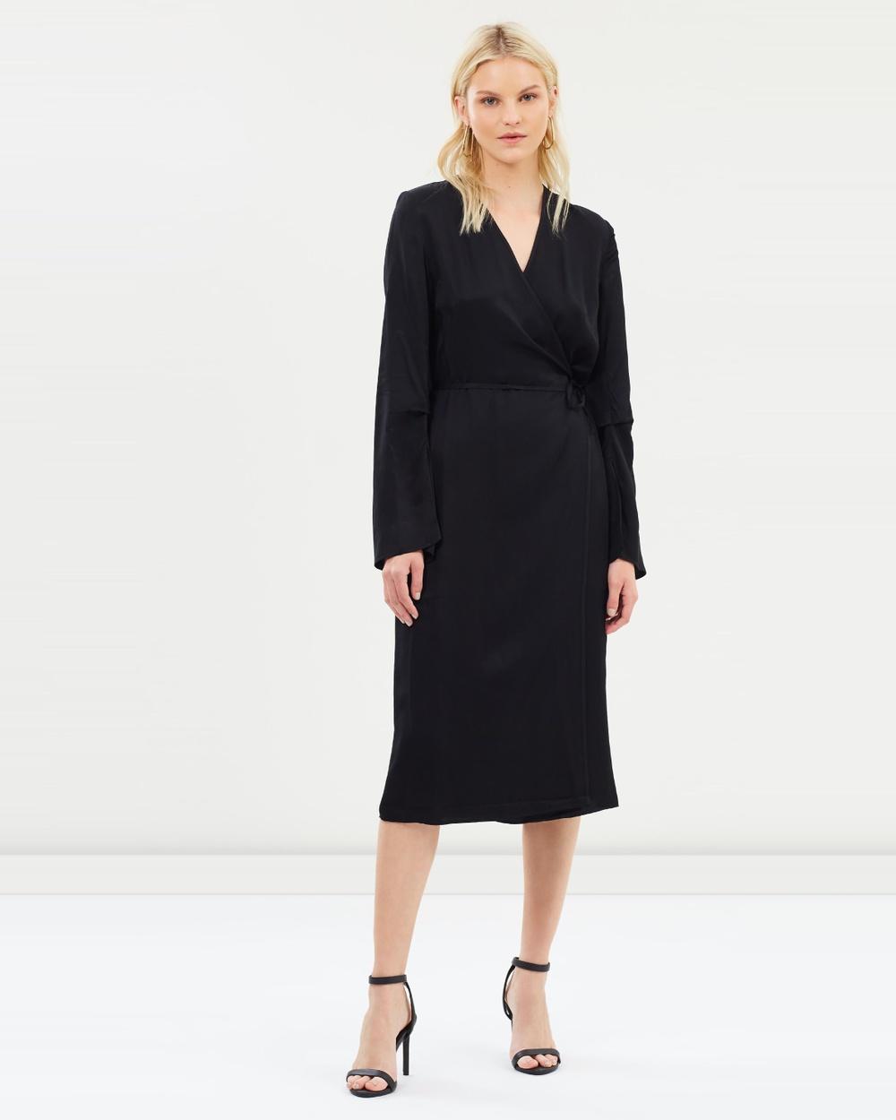 House of Dagmar Black Johanna Wrap Dress