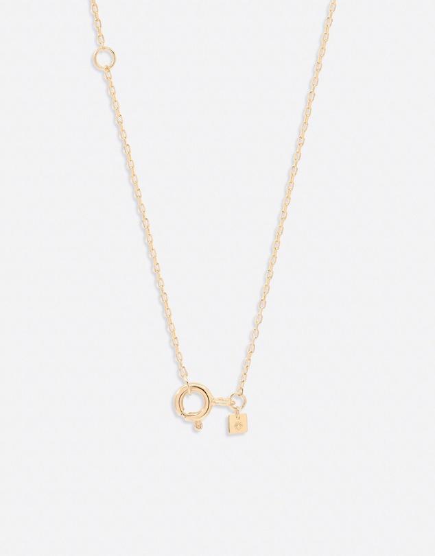 Women 14K Gold Diamond Love Letter R Necklace