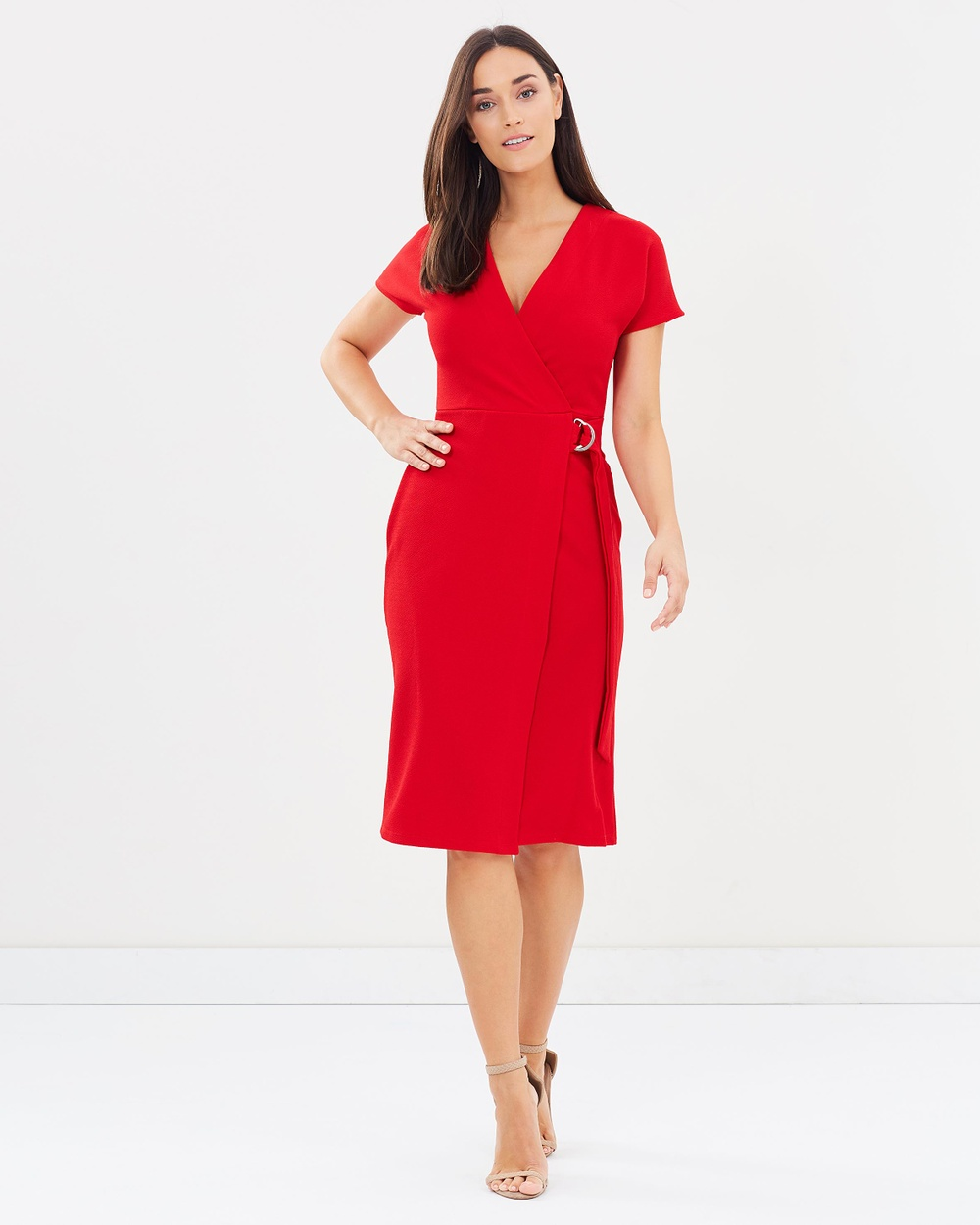 Dorothy Perkins D Ring Wrap Dress Dresses Red D-Ring Wrap Dress