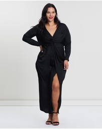 Missguided Curve - Split Wrap Maxi Dress