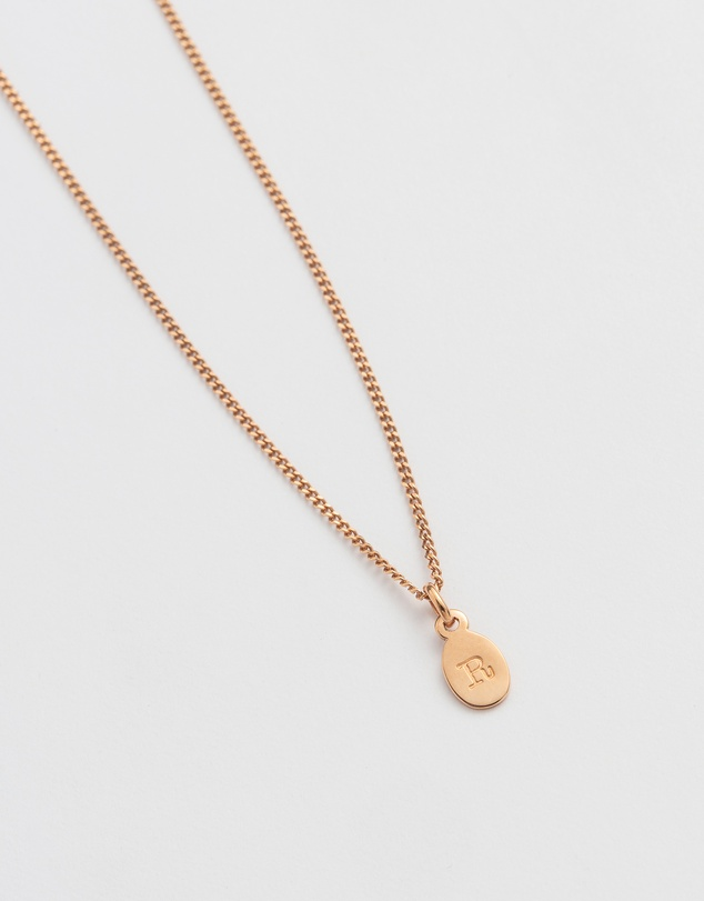 Women Initial R Necklace
