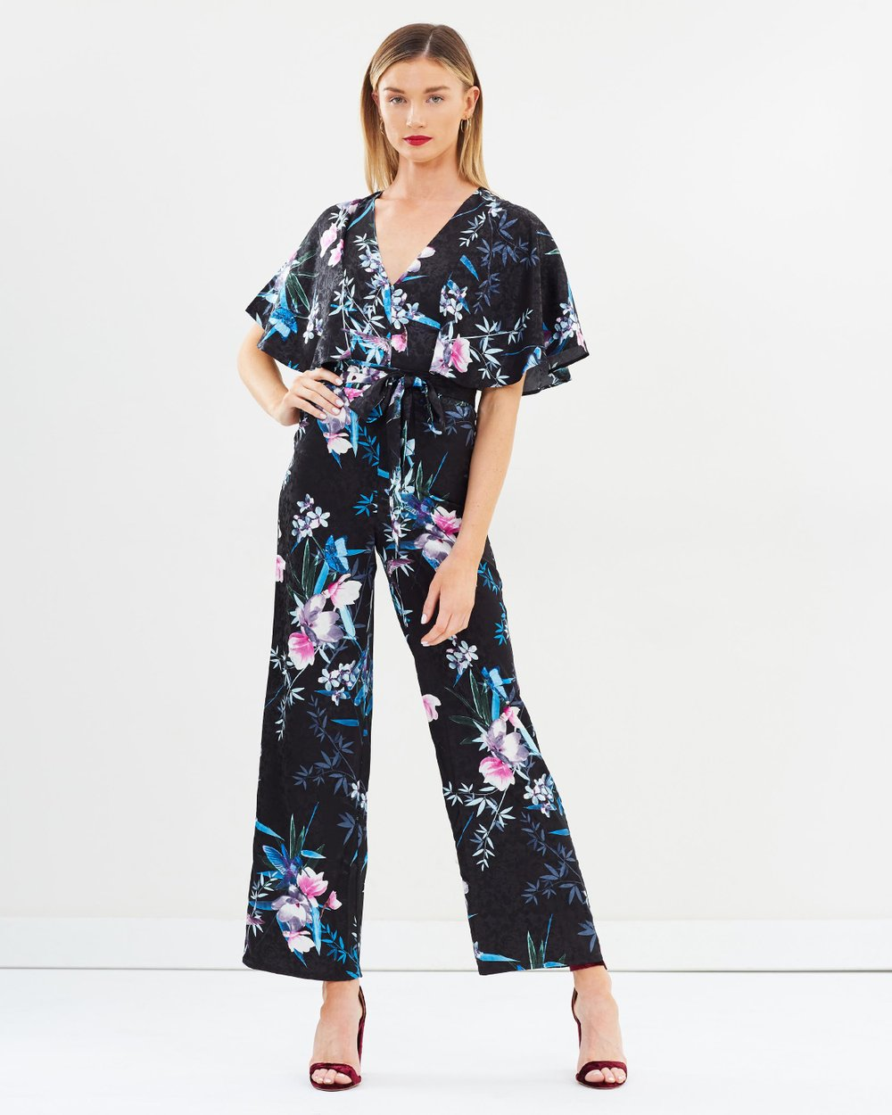 74ffee45f2 Amelia Print Cape Jumpsuit by Lipsy Online