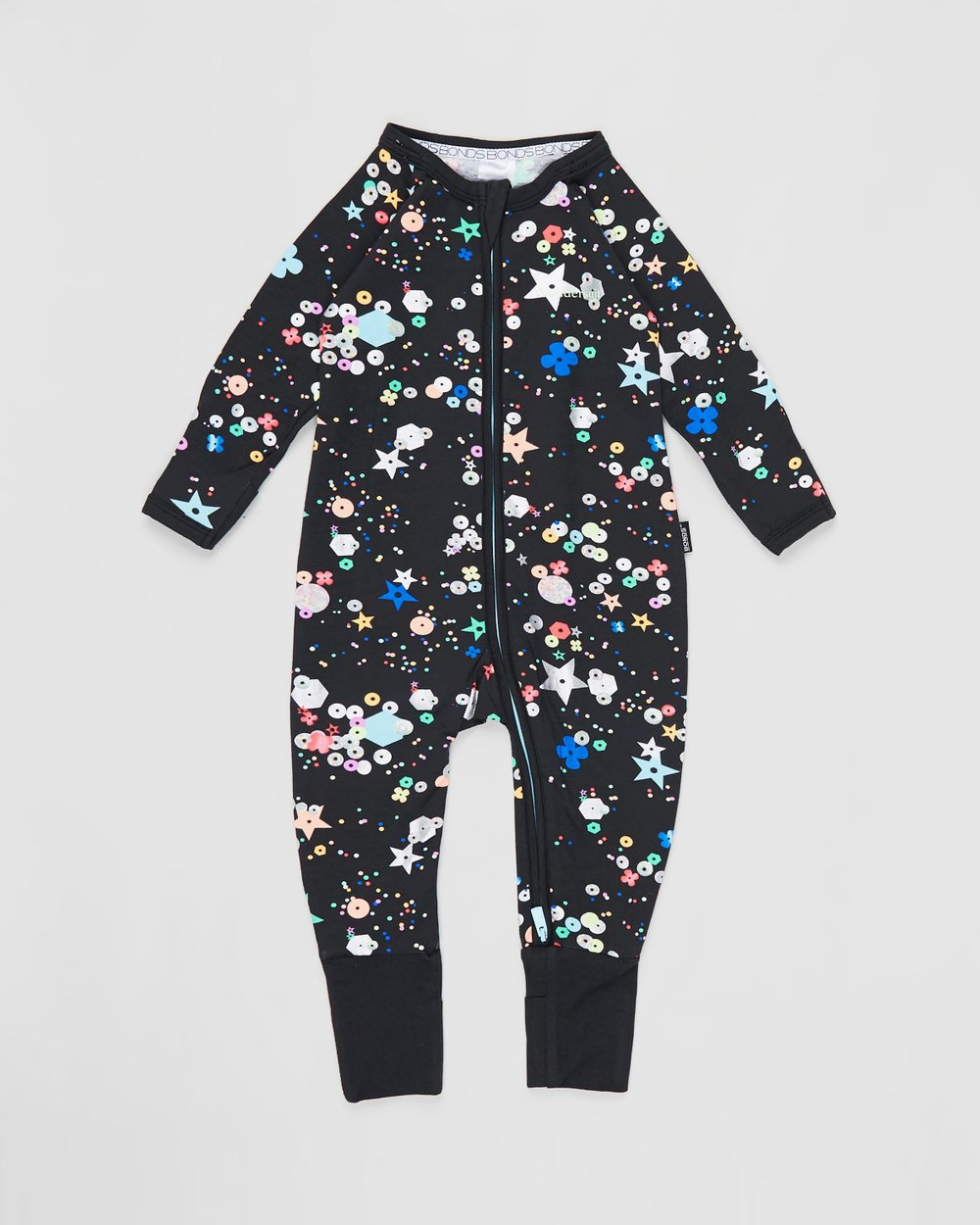 Bonds Zip Wondersuit Fully Sequin Black