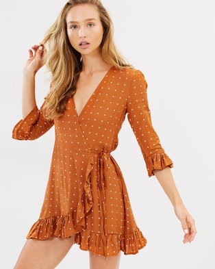 Faithfull – Carmel Dress – Printed Dresses Stefano Print Ginger