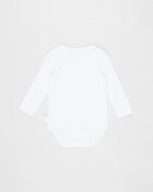 Bonds Baby Wonderbodies Long Sleeve Bodysuit 2 Pack   Babies - Bodysuits (White)