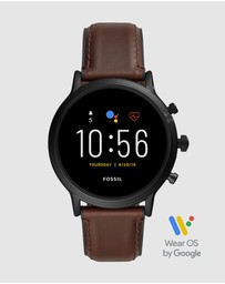Fossil - The Carlyle HR Brown Gen 5 Smartwatch