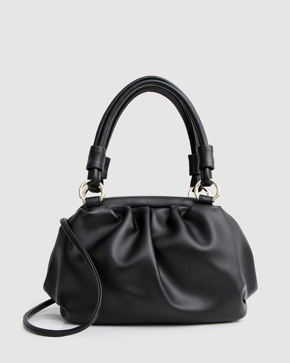 Belle & Bloom Just Because Leather Shoulder Bag Handbags Black