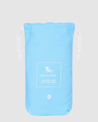 Dock & Bay Extra Large Fitness Towel 100% Recycled Essential Collection - Gym & Yoga (Blue)