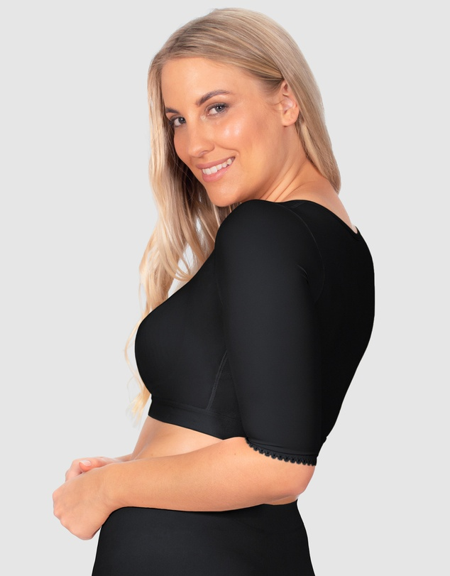 Women Front Closure Arm Shaping Crop Top
